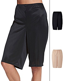 Naturally Close 2 Pack Black/Blush Anti-Chafing Culottes