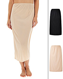 Naturally Close 2 Pack Black/Blush Maxi Waist Slip