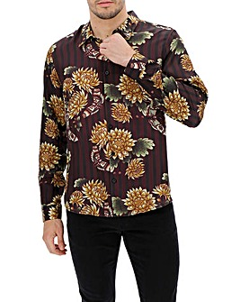 Oriental Sateen Long Sleeve Shirt Long