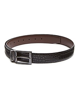 Black Leather Jeans Belt