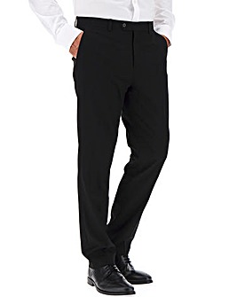 Black Regular Fit Travel Suit Trousers