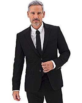 Black Regular Fit Travel Suit Jacket