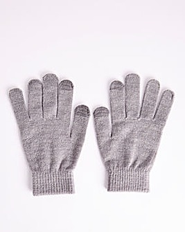 Classic Magic Knitted Grey Gloves