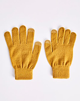 Classic Magic Knitted Ochre Gloves