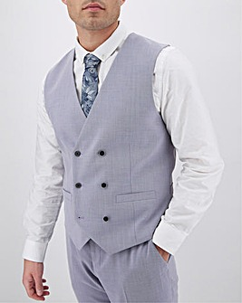Lilac Harry Double Breasted Regular Fit Waistcoat