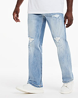 Lightwash Rip & Repair Loose Fit Jeans