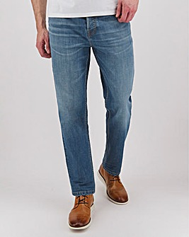 Stonewash Premium Straight Fit Jeans