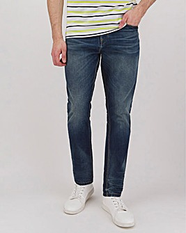 Indigo Wash Premium Tapered Jeans