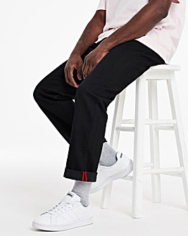 Black Straight Fit Sustainable Jeans