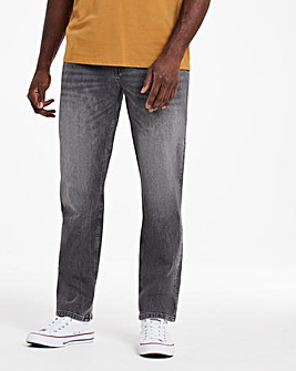 Grey Straight Fit Sustainable Jeans