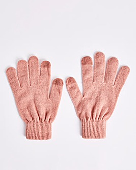 Classic Magic Knitted Pink Gloves