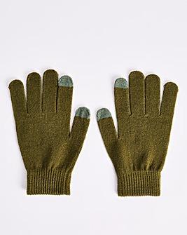 Classic Magic Knitted Khaki Gloves