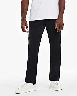 Blackwash Straight Fit Stretch Jeans