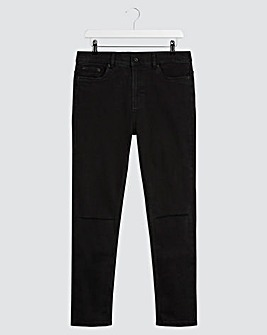 Black Skinny Fit Stretch Ripped Knee Jeans