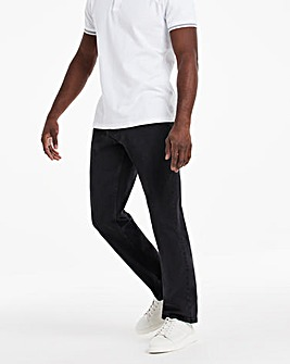 Blackwash Loose Fit Stretch Jeans