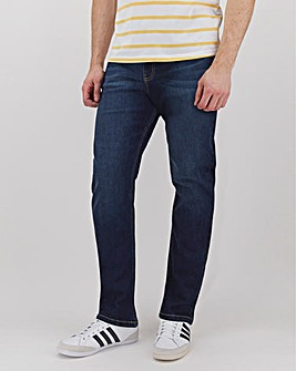 Darkwash Straight Fit Stretch Jeans