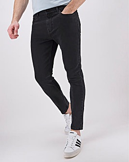 Black Wash Skinny Fit Stretch Jeans