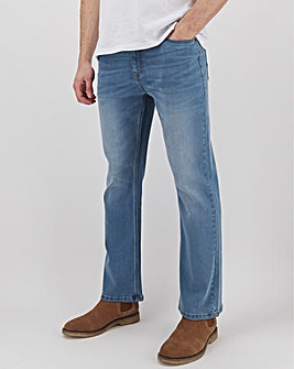 Light Stonewash Bootcut Fit Stretch Jeans