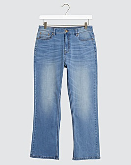 Light Stonewash Bootcut Stretch Jeans