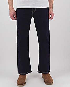 Rinse Wash Bootcut Fit Stretch Jeans