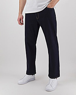 Rinse Wash Loose Fit Stretch Jeans