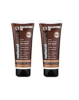 Macadamia Oil  Hair Mask Twin Pack