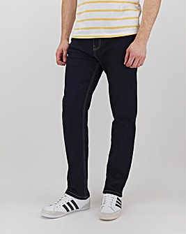 Rinse Wash Straight Fit Stretch Jeans