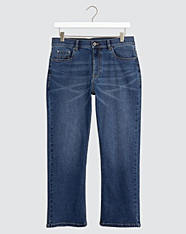 Stonewash Bootcut Fit Stretch Jeans