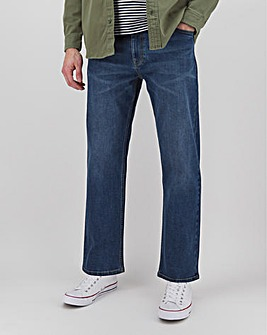 Stonewash Loose Fit Stretch Jeans