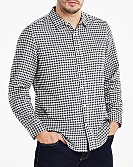 Black Button Down Collar Flannel Shirt
