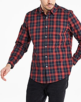 Black/Red Checked Flannel Shirt