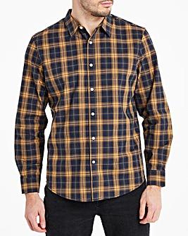 Black/Tan Checked Flannel Shirt