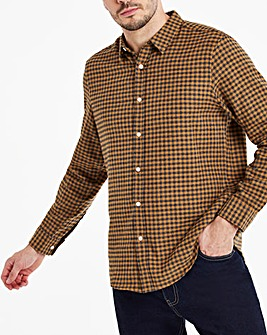 Ochre Button Down Collar Flannel Shirt