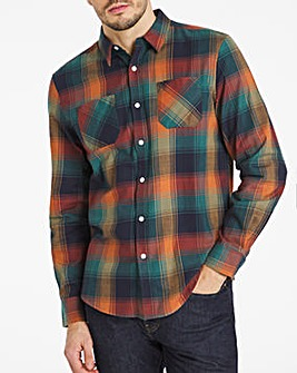 Multi Check Double Pocket Flannel Shirt