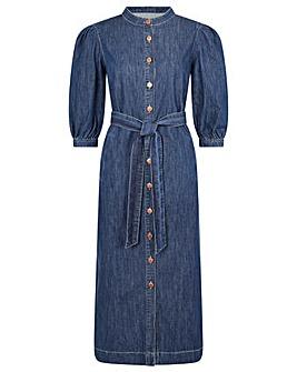 Monsoon Diya Denim Shirt Dress