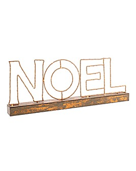 Copper Wire Noel Sign