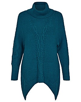 Monsoon Roll Neck Cable Knit Jumper