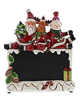 Lit Santa & Pals Chalkboard