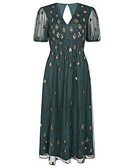 Monsoon Siobhan Embellished Midi Dress
