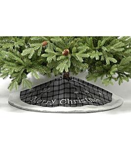Grey Merry Christmas Tree Skirt 100cm