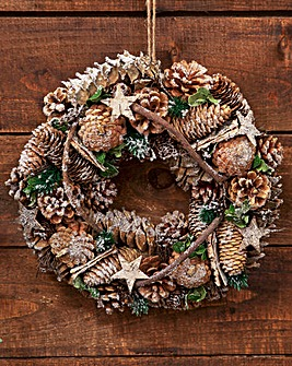Gold And Green Wreath