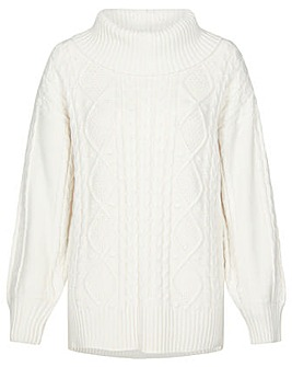 Monsoon Ida Cable Cowl Neck Jumper
