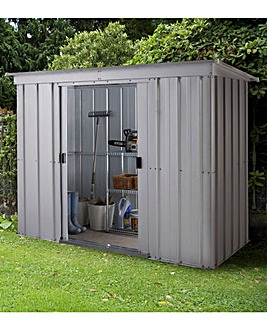 Yardmaster 6 x 4ft Pent Metal Shed with Floor Frame Kit