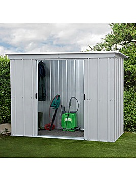 Yardmaster 8 x 4ft Pent Metal Shed with Floor Frame Kit