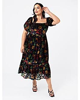 Lovedrobe Luxe Floral Midi Dress