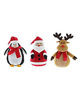 Set of 3 Christmas Pals Door Stops