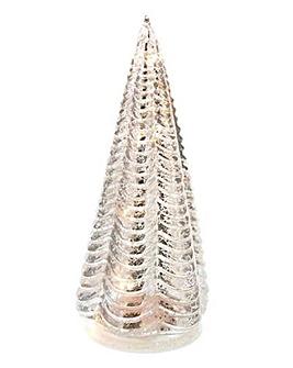 Metallic Glass Lit Tree