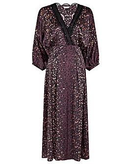 Monsoon Luna Lace Animal Print Dress