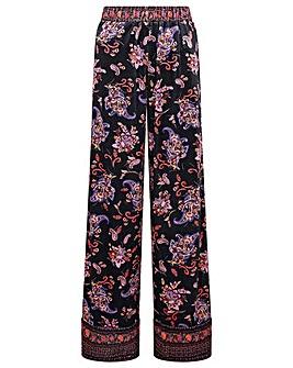 Monsoon Paisley Print Velvet Trousers