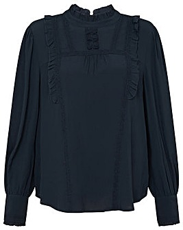 Monsoon Ruffle and Lace Trim Top